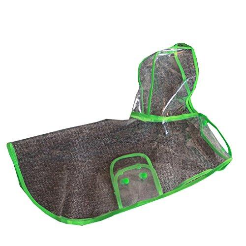 partiss New Style Transparent étanche Pet imperméable pour chien Vert - Vert