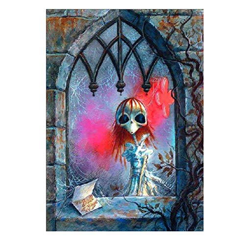 Vosarea Halloween Malerei 5D Diamant Stickerei Halloween Kreuzstich Druck Handwerk Haus Dekoration Wand (Halloween Wand-dekoration Handwerk)