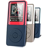 MP3 Player - HonTaseng Portable Music Player Lossless Sound 30 Hours Playback With FM Radio And Voice Recorder Expandable 32GB SD Card (Red)