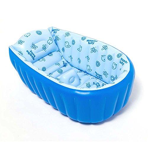 (candora ™ Baby Badewanne, Sommer Baby aufblasbare Badewanne, tragbar Travel Sitz aufblasbare Badewanne, dick Baby Kleinkind Badewanne Dusche Bad für 0–3Jahre Baby für große 90x 45x 28cm Aufgeblasen)