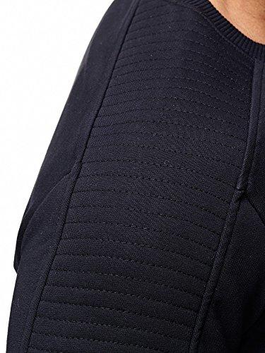 Redbridge Herren Pullover Sweatshirt Baumwolle Totenkopf Motiv mit Strass Print M2133 Schwarz