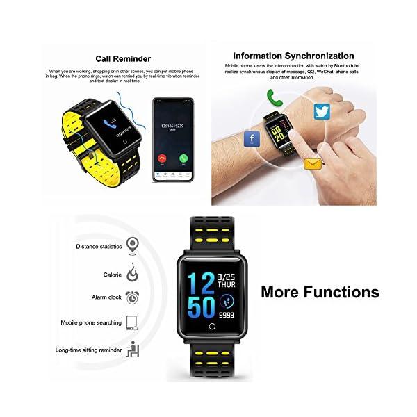 CanMixs Pulsera de Actividad Smartwatch, CM11 Impermeable IP68 Pulsera Inteligente con Podómetro, Monitor de Ritmo… 5