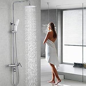 Homelody 3 Funciones Columna de ducha Altura Ajustable sistema de ducha conjunto de ducha para bañera Aireador…