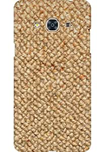 Amez Designer Printed 3D Premium high Quality Back case Cover for Samsung Galaxy J3 Pro (Woven Canvas Texture)