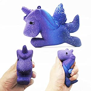 Hotsellhome New Cute Jumbo Squishies Slow Rising Scented Galaxy Unicorn Panda Milk Cup Kitten Ice Cream Doll Soft Collection Squeeze Stress Relief Toy Gift For Kids Adult (E)