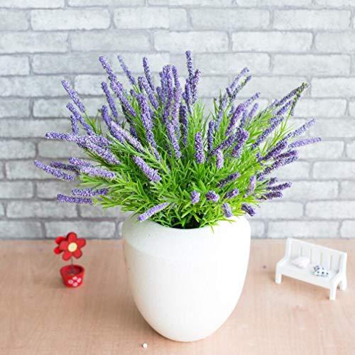 (Postral Style Artificial Lavender Flower Bonsai Miniascape for Decoration)