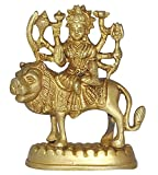 ITOS365 Brass Statue and Sculpture of Maa Durga Idol Hindu Art Puja Gifts 4.3 inches