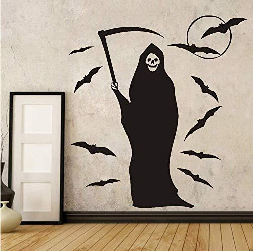 Adesivo da parete rimovibile fai-da-te pipistrello di halloween per la camera dei bambini decorazioni per la casa decalcomanie di arte poster hallowmas accessori di decorazione