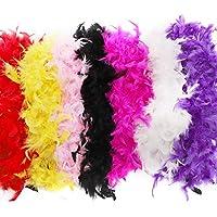 Feather Boa 80 g-Déguisements Smiffys Costume Rainbow Multicolore Accessoire