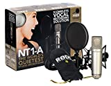Kit RODE NT1-A Complete Vocal Recording - 1' Cardioid Condenser Microphone + SM6 Shock Mount with Detachable Pop Filter