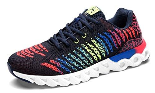 NEWZCERS , Chaussures d'athlétisme pour femme noir/rouge