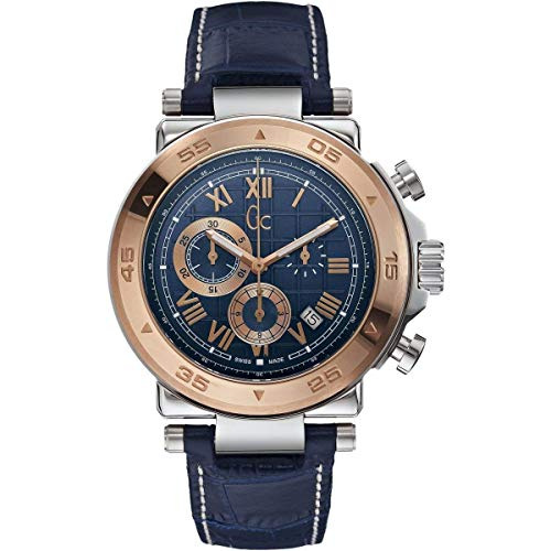 Guess Herren Chronograph Quarz Uhr mit Leder Armband X90015G7S