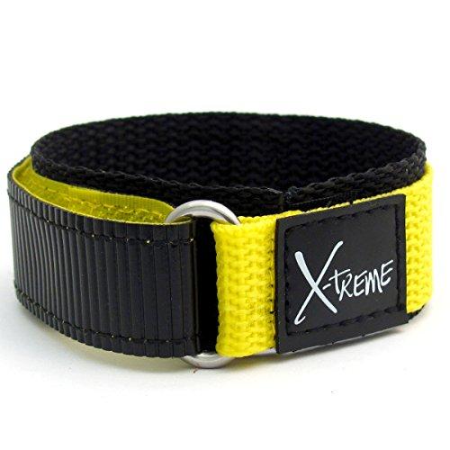x-treme-tough-velcro-watch-strap-band-mens-gents-20mm-yellow