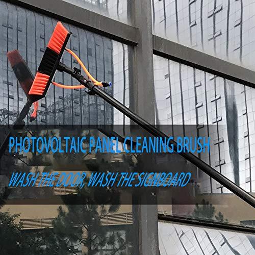 JGAIHW Waschmaschinenset Ausstattung Teleskop-Teleskop-Putzstock, 5.4M, Zur Reinigung Von Photovoltaik-Paneelen Geeignet, LKW-Fenster, Glasfensterwände,5.4M55cmbrushhead