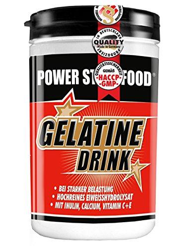 Hydrolysierte Gelatine (GELATINE DRINK, Dose 500 g, hydrolysiertes Eiweisskonzentrat mit Inulin, Calcium, Vitamin C und Vitamin E. Gelenkmanagement)