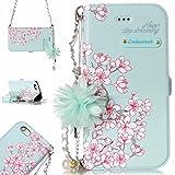 iPhone 6S Plus Hülle,BtDuck Vintage Mode Damen Blumen Blume Kette Tasche Schultertaschen Handtasche...