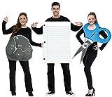 Disfraz grupal de piedra, papel y tijera para adultos - Estándar