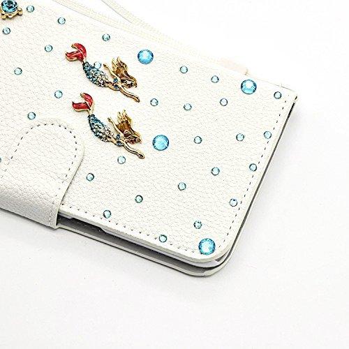 Étui iPhone 8 / iPhone 7 4.7 Pouces, Vandot 2 en 1 Luxe Bling Cristal Diamant Coque 3D Motif Design Pearl Couverture PU Cuir Case Cover de Protection Shock Absorption Bumper avec Porte Carte Wallet Ra Diamant 23