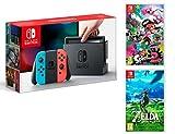 Nintendo Switch console Rouge/Bleu Néon 32Go + Splatoon 2 + Zelda: Breath of the wild