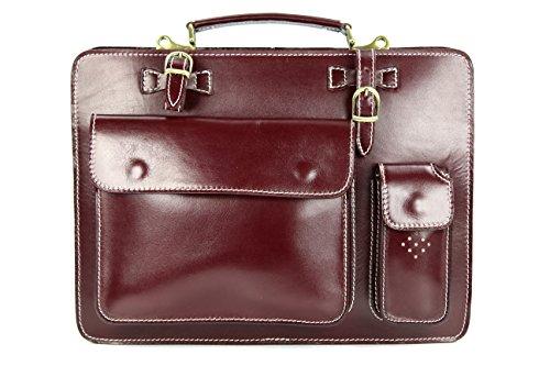 """Belli """"Design Bag Verona ital. Leder Businesstasche Arbeitstasche Messenger Aktentasche Lehrertasche Laptoptasche unisex - Farbauswahl - 39..."""