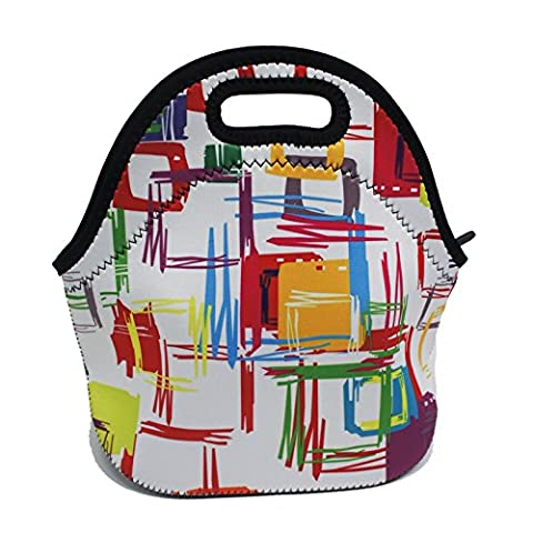 Artone Abstract Pattern Insulated Gourmet Lunch Bag Waterproof Neoprene Lunchbox Container Case