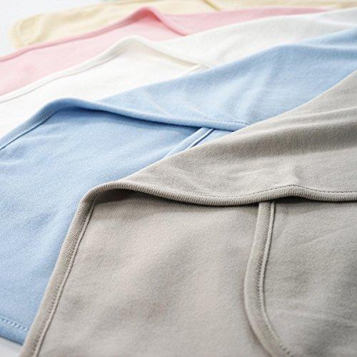 Baby Woolen Decken Babydecke Einfarbig Neugeborenes Baby Mittag Schlafquilt Frühling Sommer Und Herbst Baumwolle Quilts,Lightyellow-23.2*23.2in