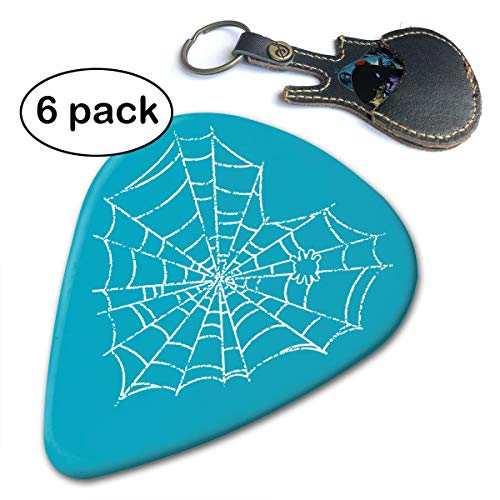 Fighwy Heart Spiders Gitarrenplektren, dünn, mittelschwer und extra schwer, 6 Stück .71mm weiß