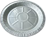"""(Pack of 50) 9"""" INDIVIDUAL FOIL PIE PLATES DISHES, ROUND"""