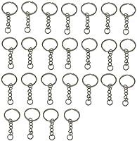 LIHAO Pack de llavero anillo de la cadena de Split 25mm acero Inoxidable de LIHAO