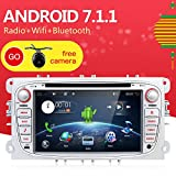 Android 7.1 Quad-Core WiFi modelo 7 'Full pantalla táctil Ford Focus...