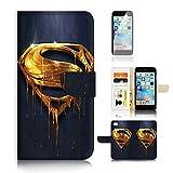 ( For iPhone 7 ) Flip Wallet Case Cover & Screen Protector Bundle! A20093 Superman Super Hero