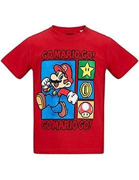 Nintendo Super Mario Bros Chicos Camiseta Manga Corta - Rojo