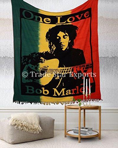 Hippie Tapisserie, indischen Wandbehang, Bob Marley Bettwäsche Double, Bohemi...