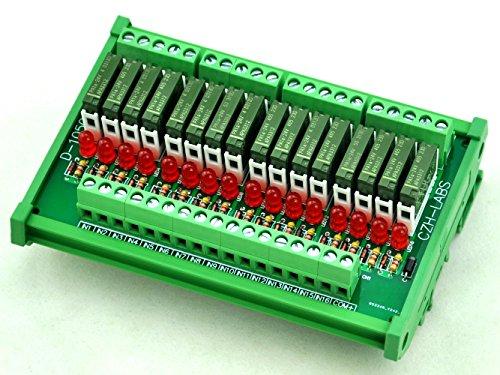 Electronics-Salon Slim DIN Rail Mount 24 V DC Spültisch/NPN 16 spst-no 5 A Power Relay Modul, pA1 A-24 V. - 24v 5 Din-module