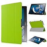 ELTD Lenovo Tab 2 A10-30 Hülle Case - Ultra Schlank Smart Cover Tasche Schutzhülle Case für Lenovo Tab 2 A10-30 mit Standfunktion, Grün