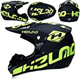XBECO Dual Sport Motocross Helmet/Adult MX Off-Road Motorcycle/AM Mountain Bike Full Face Helmet (Handschuhe, Goggles, Maske, Set of 4),XL