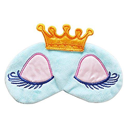 Prinzessinen Schlafmaske (blau), Vergiss die Welt um Dich herum und träum Dich in Dein eigenes Königreich - Qualität von GoBeLi® (Das Königreich Und Die Krone)