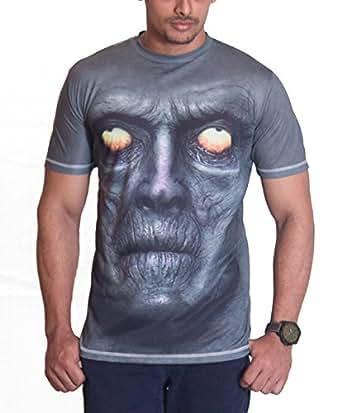 Ushirts Men's Round Neck 3D T-Shirt (US OLDSM 01_Green_X-Large)