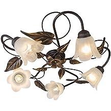 QAZQA Klassisch Antik Landhaus Vintage Rustikal Deckenleuchte Deckenlampe Lampe