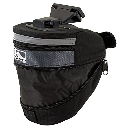 Waterproof Mountain Bicycle Rear Seat Pack, Bike Saddle Bag / Handlebar Bag / Strap-on Bag / Toolkit schwarz
