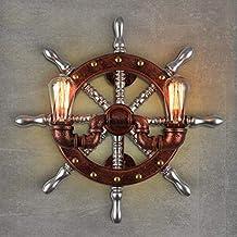 IG Iluminación de Pared Creativa- Lámpara de Pared de Hierro Arte Pipas de Agua de