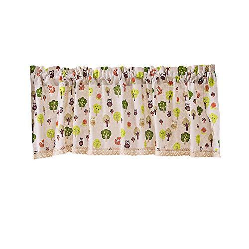 Crity - tenda mantovana per finestre extra larghe e corte, trattamento per cucina, soggiorno, bagno c