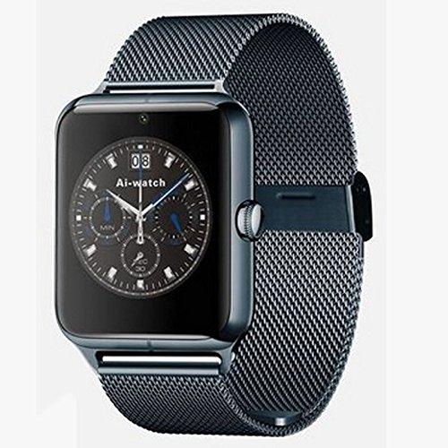 Z-YF Pulsera Inteligente Reloj Elegante de la Llamada de la Manera del Negocio del Bluetooth del Reloj Elegante del teléfono enchufable. (Color : Negro)
