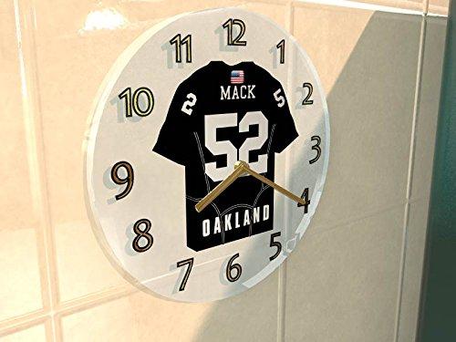 Uniformen Raiders Oakland (NFL National Football League Wanduhren–AFC West American Football Jersey Uhren–Jeder Name, beliebige, jedes Team, Damen Herren Kinder, OAKLAND)