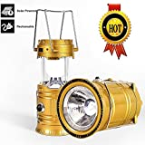 Iblay 3-In-1 Rechargeable Lantern Lamps Decorative Hanging Outdoor With Torch And Mobile Charger - Solar Lights For Home Garden Emergency