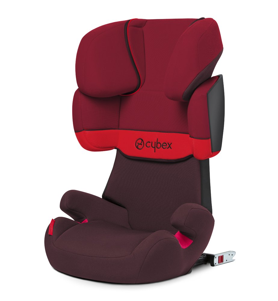 CYBEX Silver Solution X-Fix Child's Car Seat, For Cars with and without ISOFIX, Group 2/3 (15-36 kg), From approx. 3 to approx. 12 years, Rumba Red Cybex Sturdy and high-quality child car seat for long-term use - For children aged approx. 3 to approx. 12 years (15-36 kg), Suitable for cars with and without ISOFIX Maximum safety - 3-way adjustable reclining headrest, Built-in side impact protection (L.S.P. System) 11-way adjustable, comfortable headrest, Adjustable backrest, Comfortable seat cushion 2