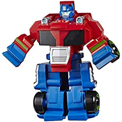 Transformers Playskool Rescue Bots Academy - Robot Secouriste Optimus Prime de 11 cm - Jouet Transformable 2 en 1