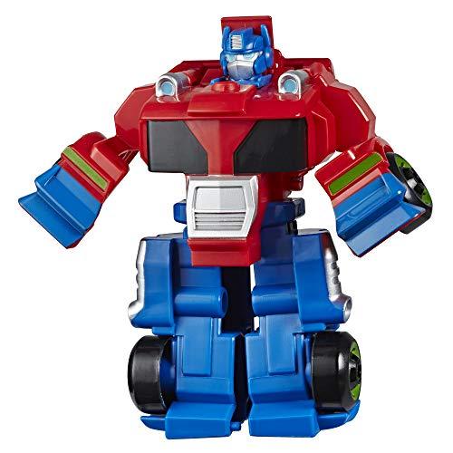 Transformers Playskool Rescue Bots Academy - Robot Secouriste Optimus Prime de 11 cm - Jouet Transformable 2 en 1