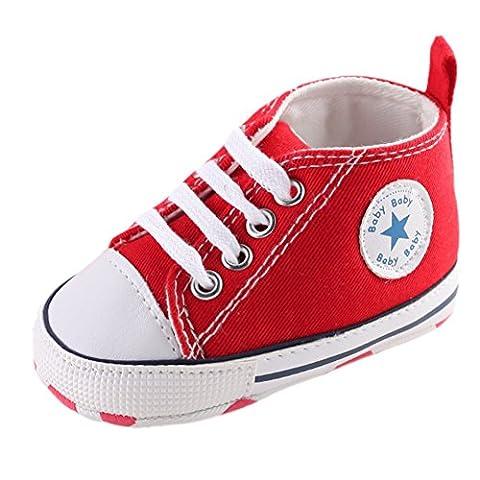 Leap Frog Fashion Sneakers, Baskets tendance bébé garçon - rouge - Red, 12-18 mois