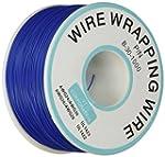 C�ble fil de cuivre plaqu��tain bleu...